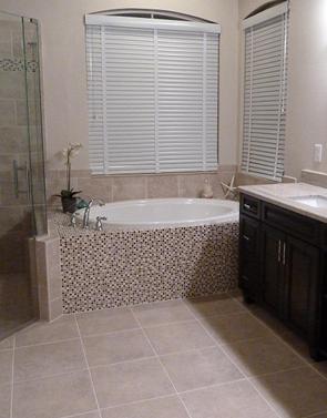 master bathroom porcelain glass tile shower installation tampa westchase florida