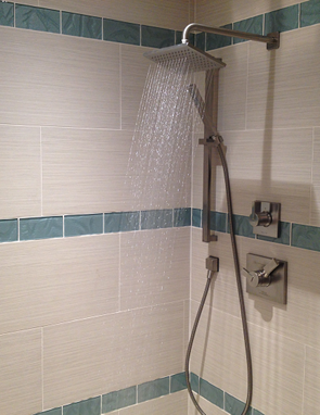 clearwater beach mast bathroom shower porcelain glass tile shower tile installation condo