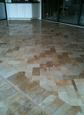 travertine paver installation new tampa florida
