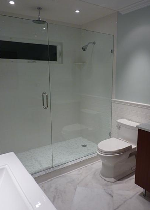 subway glass carrara tile shower install st pete florida