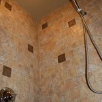 6x6 porcelain tile master shower bronze accent tile orlando florida