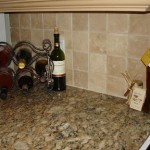 travertine backsplash noce honey walnut holes grout sanded kitchen florida tampa orlando sarasota