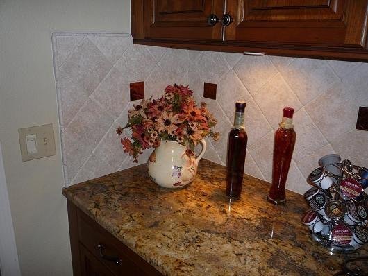 Travertine Backsplash Ceramic Tile