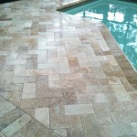 travertine 6x12 roman blend paver pool deck coping sand set lanai install installation installer contractor tampa seminole largo clearwater brandon bradenton sarasota florida