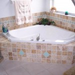 tumbled noce marble travertine glass tile garden tub master bath florida tile contractor