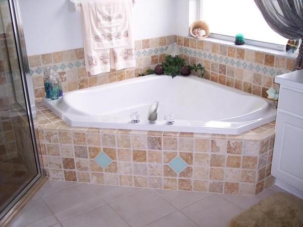 Garden tub ideas native home garden design for How to decorate a garden tub bathroom