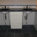 porcelain ceramic and glass tile custom florida bathroom