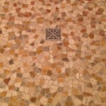 flat pebble shower floor - Laticrete HydroBan Flange drain