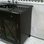 custom bathroom thasos white marble wainscot octagon floor mosaic tile shower