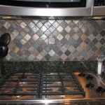 Custom backsplash florida multi colored slate metallic deco tile contractor www.ceramictec.com