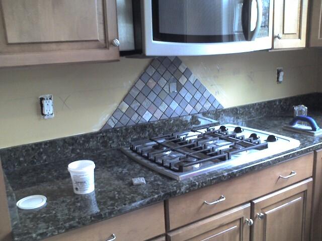 Ceramictec Multi Color Tumbled Slate Kitchen Backsplash