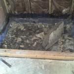 Florida Ceramic Tile Shower mud bed shower pan removal demo