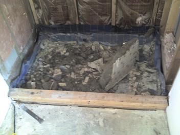 Superior Florida Ceramic Tile Shower Mud Bed Shower Pan Removal Demo