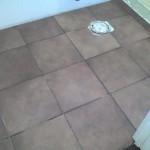 Florida Ceramic Tile Shower master bath rectified porcelain floor tile