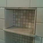 16 marble corner niche soap shelf custom master bathroom tile