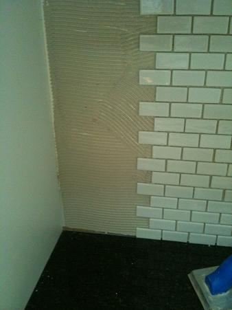 ceramictec recycled glass tile backsplash installation