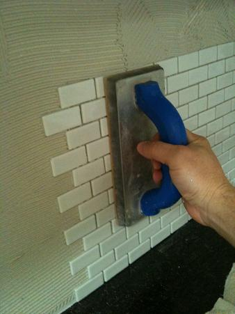 Ceramictec Recycled Glass Tile Backsplash Installation Tampa Florida