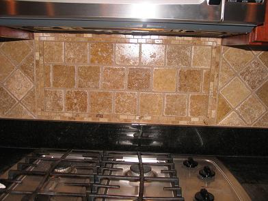 Travertine Subway Gl Kitchen Backsplash Tile Brown 12x12 Sheet