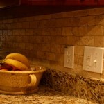 2x4 Tumbled Brick Chiaro Travertine backsplash installation Tampa Sarasota Brandon Bradenton St Pete Clearwater