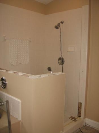 ... 1 Bathroom Shower Tile Renovation  Schluter Kerdi Waterproofing Tampa Sarasota Brandon Bradenton Florida  ...
