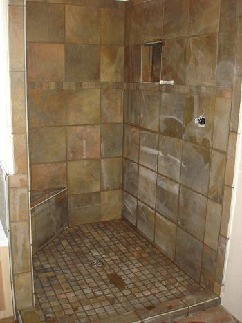 Ceramictec kerdi shower bathroom tile renovation tampa Bathroom tile pictures gallery