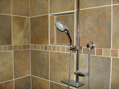 Ceramictec kerdi shower bathroom tile renovation tampa for Bathroom renovation tampa