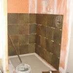 bathroom shower tile renovation schluter kerdi waterproofing tampa sarasota brandon bradenton florida