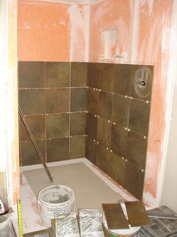 bathroom shower tile renovation schluter kerdi tampa sarasota brandon bradenton florida