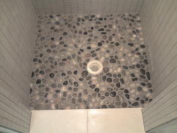 Pebble Shower U0026 Plank Tile Bathroom Tampa St Petersburg St Pete Sarasota  Brandon Brandenton Largo Tile