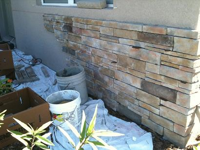 Ceramictec thin stacked stone veneer in florida for How to install stone veneer over stucco
