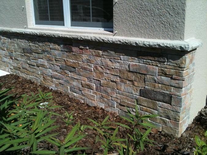 Ceramictec thin stacked stone veneer in florida for Stone veneer house pictures