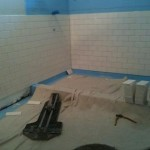 Subway Carrara Glass Tile Bathroom St. Petersburg Tampa Sarasota Brandon Bradenton Florida