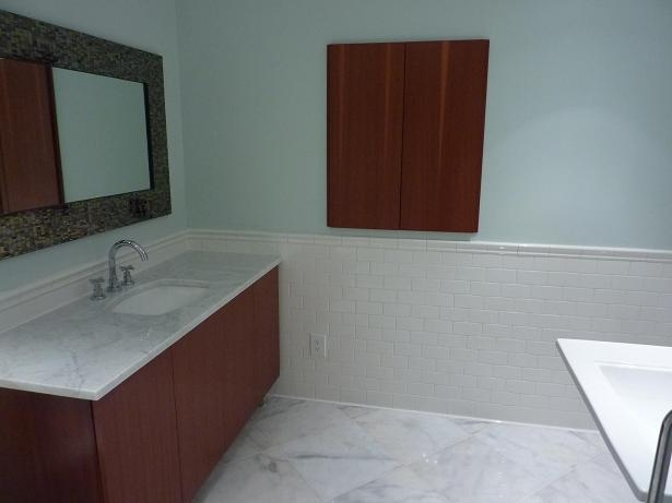 Ceramictec - Subway, Carrara & Glass Tile Bathroom - St. Petersburg, FL.