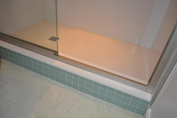 Ceramictec bathroom shower tile renovation sarasota fl for Large format glass tile