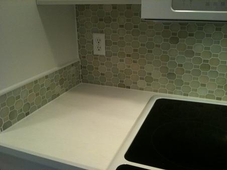 polished green river onyx mosaic walker zanger backsplash tile