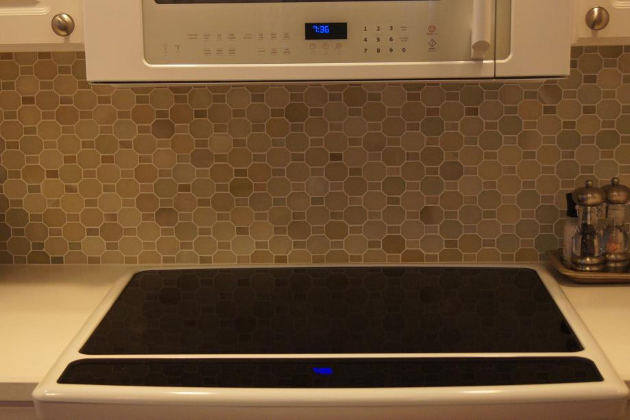 Backsplash Installer Ceramictec  Polished Green River Onyx Mosaic Backsplash Walker Zanger