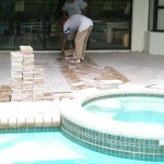 new tampa wesley chapel lutz florida travertine paver pool deck sand set pavers