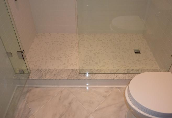 Ceramictec glass mosaics design flow with ceramictec in tampa florida Install tile shower