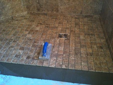 New Tampa Bathroom Shower Floor Tile Remodel