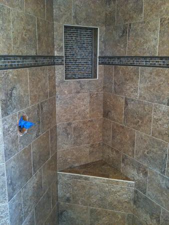 New Tampa Bathroom Shower Floor Tile Remodel