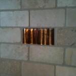 Custom 2x4 Tumbled Travertine with Glass Tile Back Splash tampa sarasota brandon bradenton lutz wesley chapel new port richey oldsmar florida install installer installation