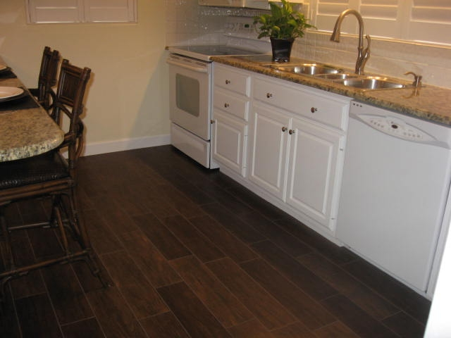 Porcelain Plank Walnut Wood Look Tile Tampa Bradenton Brandon Lutz Wesley Chapel Lakeland Clearwater