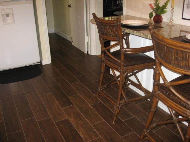 Porcelain Wood Tile Kitchen Tampa Plank