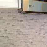 White Carrara Mini-Brick Marble Mosaic Back Splash Clearwater Brandon Lutz Wesley Chapel Florida