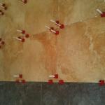 Large Format Porcelain Tile Grill Wall Installation bradenton sarasota florida