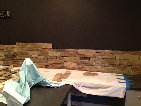 Ceramictec - Interior Dry Stacked Stone Veneer Accent Wall 4