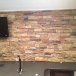Interior Dry Stacked Stone Veneer Accent Wall
