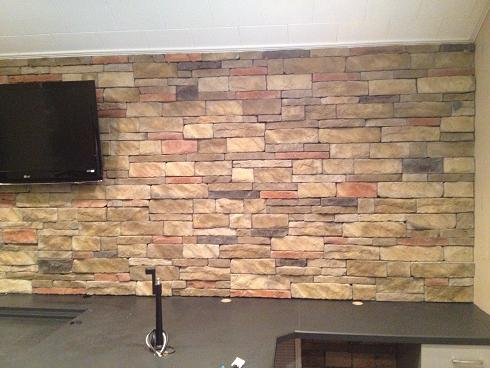 Ceramictec Interior Dry Stacked Stone Veneer Accent Wall 9