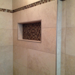 No Curb Linear Drain Tile Shower Tampa, Florida